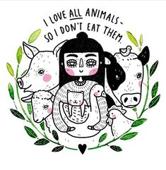 Vegan for the animals 🐖🐇🐑🐄 Vegetarian Quotes, Vegetarian Day, Vegan Quotes, Vegetarian Facts, Woodstock, Vegan Memes, Why Vegan, Vegan Animals, Vegan Lifestyle