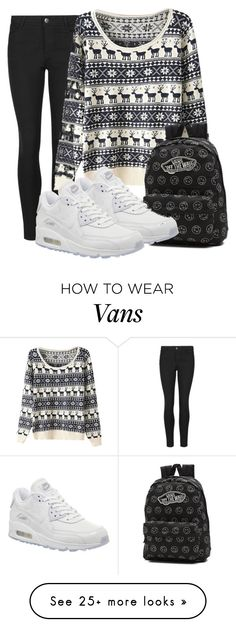 """Untitled #240"" by gludmil98 on Polyvore featuring Indigo Collection, Vans and NIKE"