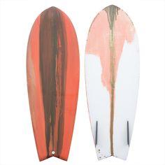 """Justin Adams 5'1"""" Dancing Baby Twin Keel Fish Surfboard"""