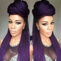 Women enjoy wearing box braids because these braids not only allow them to extend the length of their hair, but they can also wear different hairstyles with box braids. Although these styles look v… Box Braids Hairstyles, Fancy Hairstyles, Black Girls Hairstyles, Twist Hairstyles, African Hairstyles, Updos Hairstyle, Twist Styles, Braid Styles, Short Hair Styles