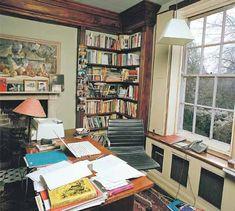 I love the bookshelf, the window, the desk.