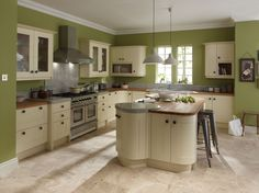 Image result for kitchen blue lime walls white units