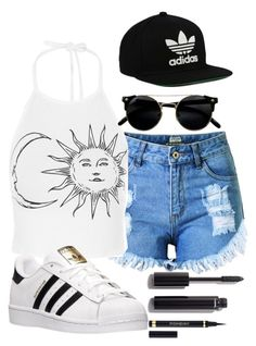 """bored //sry if this set isnt nice..."" by elsakaram on Polyvore featuring Topshop, adidas, adidas Originals, Chanel and Yves Saint Laurent"
