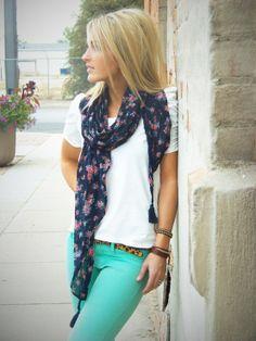 Calças coloridas, para se juntar com a moda #colorblocking