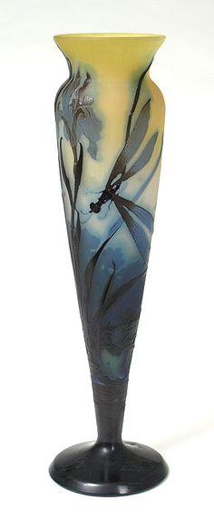 Gallé (Galle), Dragonfly Vase