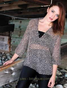 LOADS OF LEOPARD blouse <3 <3 <3