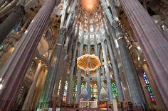 The Basílica i Temple Expiatori de la Sagrada Família (English: Basilica and Expiatory Church of the Holy Family). Barcelona, Spain.