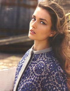 love the jacket. andreea diaconu by asa tallgard for elle russia june 2012