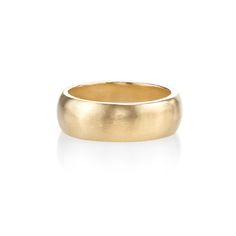 """Wedding Bands for Him: Lizzie Mandler Fine Jewelry """"Cigar Band"""" - also available in white gold or platinum - #hisweddingband #weddingbandsformen #husband"""