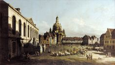 """Bellotto Bernardo - Neumarkt In Dresden (from <a href=""""http://www.oldpainters.org/picture.php?/45292/category/15206""""></a>)"""