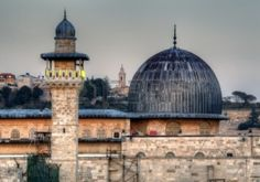 Picture of Al Aqsa Mosque, the third holiest site in Islam, with Mount of Olives in the background in Jerusalem, Israel. stock photo, images and stock photography. Palestine Art, Mount Of Olives, Rare Historical Photos, Dome Of The Rock, Islamic World, Islamic Art, Islamic Architecture, Islamic Pictures, Jerusalem