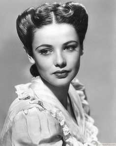 """Gene Tierney in """"The Return of Frank James"""" - """"Undeniably the most beautiful woman in movie history."""" - Darryl F. Zanuck, former chief of production and founder of 20th Century-Fox. Description from pinterest.com. I searched for this on bing.com/images"""