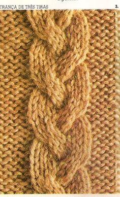Netelu Artes: Tranças em tricô - como trabalhar com agulha auxiliar