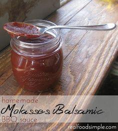 molasses balsamic BBQ sauce | realfoodsimple.com