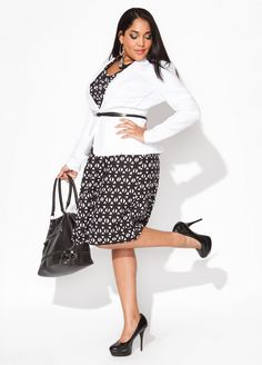 Ashley Stewart~for work. Dress beautiful no matter what size you're.
