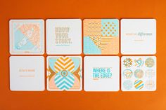 The quotes aren't my favourite, but these coasters from Anthem look great. Too great to get wine stains on, in fact.