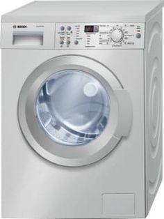 Bosch WAQ2836SGB Freestanding Washing Machine. Silver washing machine, with 1400 spin and 8kg drum size. #silverwashingmachine #boschwashingmachine #washingmachine