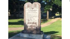 Arkansas installs Ten Commandments monument #U_S_A_ #iNewsPhoto