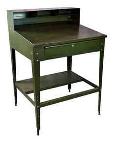 Repurpose Vintage Industrial Drafting Desk