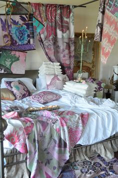 poetic wanderlust -textiles by designer tracy porter Shabby Chic Rug, Boudoir, Tracy Porter, Bed Lights, Linens And Lace, French Country Decorating, Eclectic Decor, Beautiful Bedrooms, Bohemian Decor
