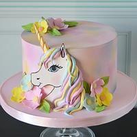 Unicorn cake Mickey Mouse Birthday Cake, Unicorn Birthday, Unicorn Cakes, Cake Cover, Sugar Paste, Cute Unicorn, Amazing Cakes, Chocolate Cake, Cake Decorating