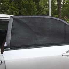 2x Car Rear Window UV Mesh Sun Shades Blind Kids Children Sunshade Blocker Black #Affiliate