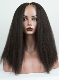 Pre Plucked Hairline Kinky Full Lace Wig - Kinky001 Indian Hairstyles, Wig Hairstyles, Lace Front Wigs, Lace Wigs, Curly Hair Styles, Natural Hair Styles, Brazilian Curly Hair, Afro Girl, Free Hair