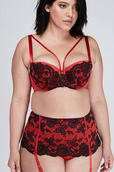 0a685803c47 Details in all the right places. Red Lingerie