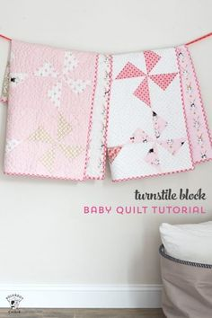 Sewing Quilts This tutorial bundle includes 3 of our most popular baby quilt patterns. In this bundle you will find patterns for: Turnstile Baby Quilt Pattern x Dresden Burst Baby Quilt Pattern x His Free Baby Quilt Patterns, Baby Quilt Tutorials, Beginner Quilt Patterns, Quilting For Beginners, Quilt Block Patterns, Quilt Blocks, Free Tutorials, Quilting Ideas, Bag Patterns