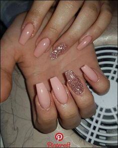 nails natural look with glitter \ nails natural look . nails natural look gel . nails natural look acrylic . nails natural look short . nails natural look manicures . nails natural look with glitter . nails natural look almond . nails natural look simple Acrylic Nails Coffin Short, Simple Acrylic Nails, Best Acrylic Nails, Pink Coffin, Acrylic Nail Designs For Summer, Painted Acrylic Nails, Squoval Acrylic Nails, Coffin Nails Designs Summer, Acrylic Nail Shapes