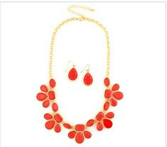 Red Bib Necklace available @ theLuxe-Life.com