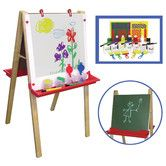 This is everything you need for your little artists! Adjustable legs make this easel suitable for toddlers and kids. Use it in your classroom, daycare, or home. Kids will love this!