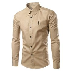Brief Style Turn-Down Collar Slim Fit Long Sleeve Shirt For Men Mens  Clothing Deals 7020c34cc5
