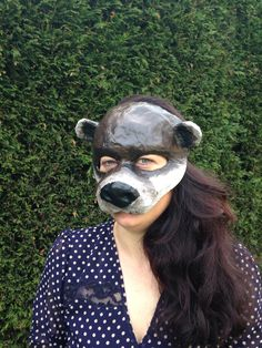 Otter mask made from recycled paper from my Etsy shop https://www.etsy.com/listing/231900930/otter-mask-paper-mache-animal-mask