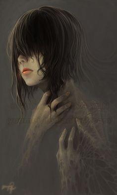 Fade to Gray by Wenqing Yan [Yuumei art] Dark Fantasy, Fantasy Art, Art Zombie, Yuumei Art, Manga Anime, Anime Art, Gothic Art, Pics Art, Dark Art