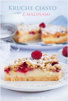 Pudding cake with raspberries Polish Recipes, Candy Recipes, Dessert Recipes, Pudding Cake, Happy Foods, No Bake Desserts, Cheesecake, Food And Drink, Cooking Recipes