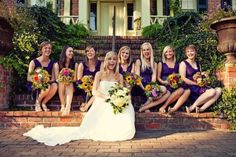 UNIQUE WEDDING IDEAS | make it meaningful | This bride had her bridesmaids pick their own flowers… from a field grown just for them. | The Knotty Bride™ Wedding Blog + Wedding Vendor Guide
