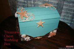 Homemade Treasure Chest Card Box | treasure chest card box | Jazzy's Quince | Pinterest