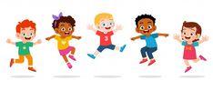 happy cute kids boy and girl jump - Buy this stock vector and explore similar vectors at Adobe Stock Kids Background, Cartoon Background, Kids Cartoon Characters, Cartoon Kids, Cartoon Icons, Fictional Characters, Child Smile, Child Day, Girl Smile