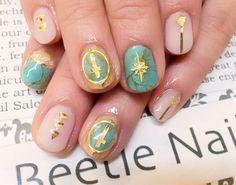 Nail Art - Beetle Nail : 八幡|ウッド&ターコイズ  #ネイル #ビートル近江八幡 #ビートルネイル #ネイル近江八幡