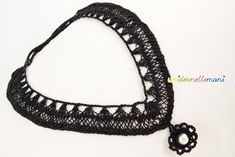crochet necklace hairpinlace
