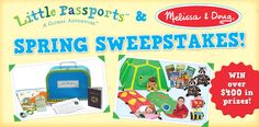 I just entered the Little Passports and Melissa & Doug Spring Sweepstakes. Enter for your chance to win!
