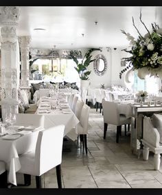 Owned by Lisa Vanderpump of The Real Housewives of Beverly Hills~Villa Blanca Beverly Hills is beautifully decorating in white~The food and ambiance are unmatched!