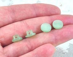 Items similar to Vintage Shank Round Buttons Set of 4 - Pale Green - diameter Notions for sewing knitting crochet Crafts, and Costumes by DeeDeeSupplies on Etsy Bead Store, Knitting Supplies, Round Button, Shank, Jewelry Crafts, Craft Supplies, September, Designers, Stud Earrings