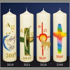 Candle Accessories, Pillar Candles, Easter Candle, Holy Quotes, Design, Candle Arrangements, Decorated Candles, Wax, Decorating Candles