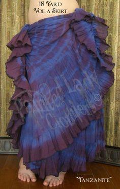 """Tanzanite"" 18 Yard Voila Skirt  You can order yours here:  http://www.paintedladyemporium.com/Shop-Here.html"