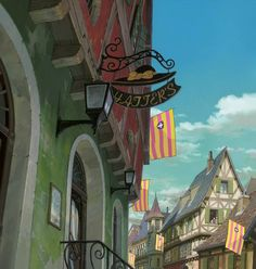 """Howl's Moving Castle ハウルの動く城""  Background Art 