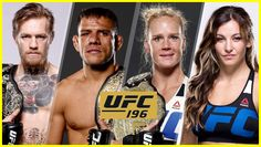 Conor McGregor vs Rafael dos Anjos & Holly Holm vs Miesha Tate officially announced for UFC 197 on March 2016 Conor Mcgregor, Holly Holm, Ufc 196, Miesha Tate, Pay Per View, Training Motivation, Fight Night, Sports News, Mma