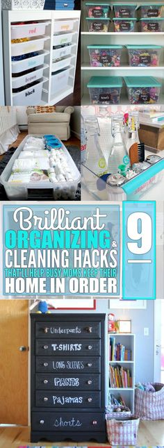 My home is finally clean and organized thanks to these hacks! If you're a mom then you absolutely have to try these awesome cleaning and organizing hacks!
