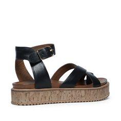 Sandales à plateforme noires